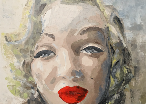 MM-oil on canvas. 90cm. x 90cm.